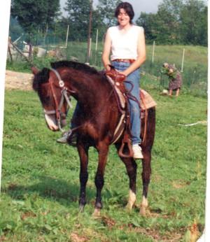 Daniela e Belinda, il suo primo cavallo.