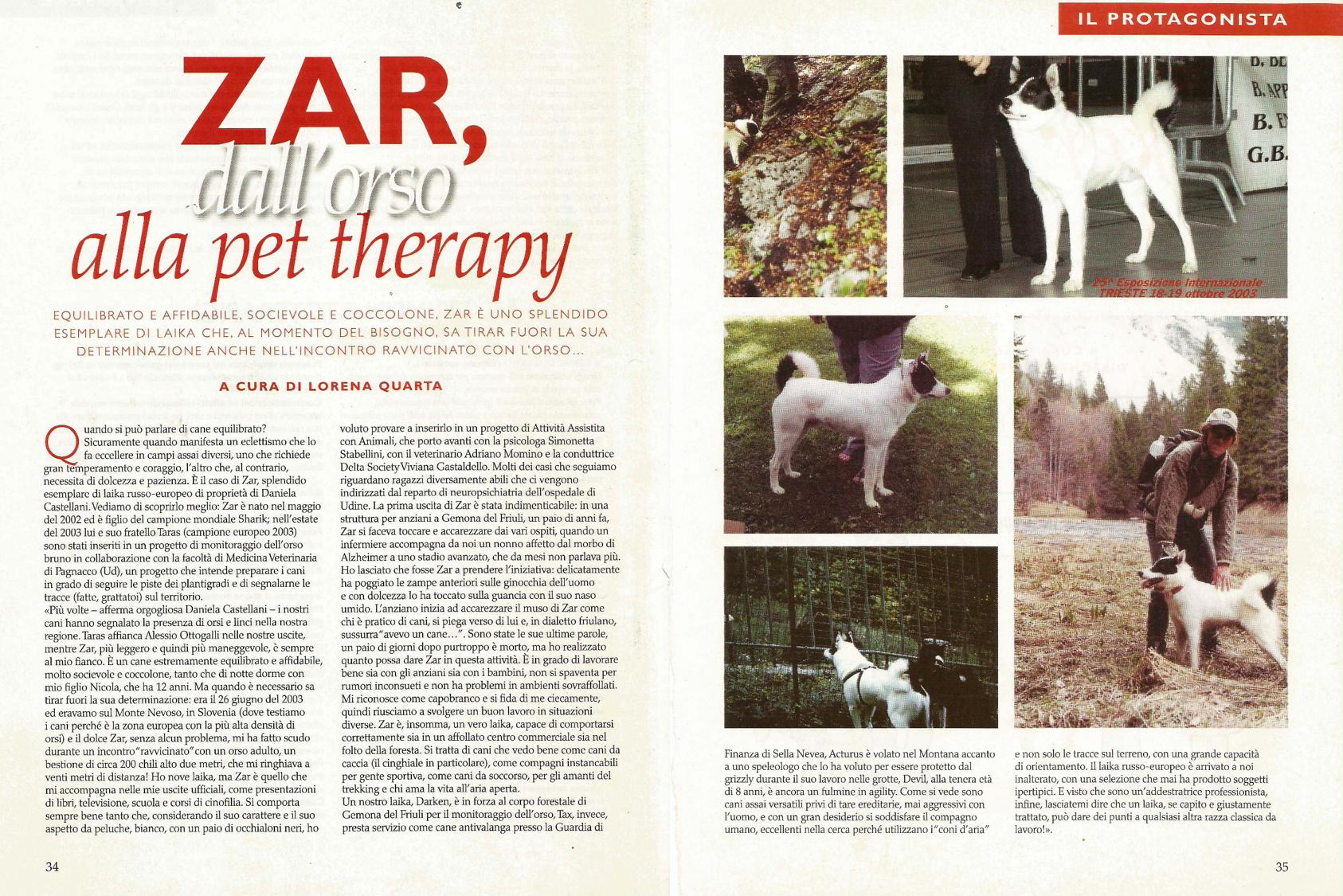 Zar dall'orso alla pet therapy