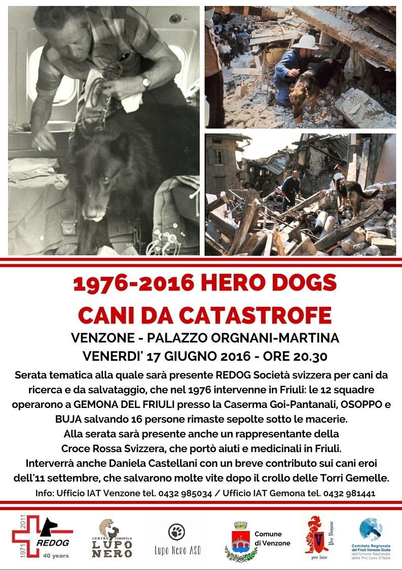 serata 1976-2016 HERO DOGS- CANI DA CATASTROFE