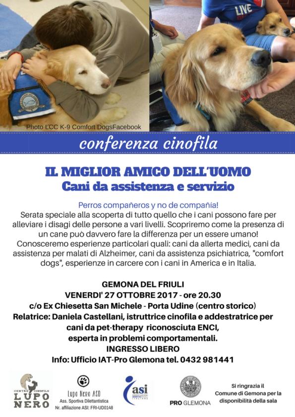 conferenza cani da servizio e assistenza Gemona