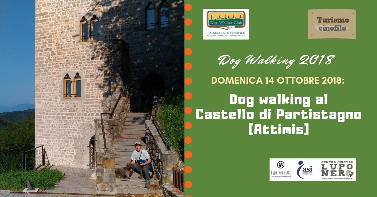 Dog walking al Castello di Partistagno (Attimis) - domenica 14 ottobre