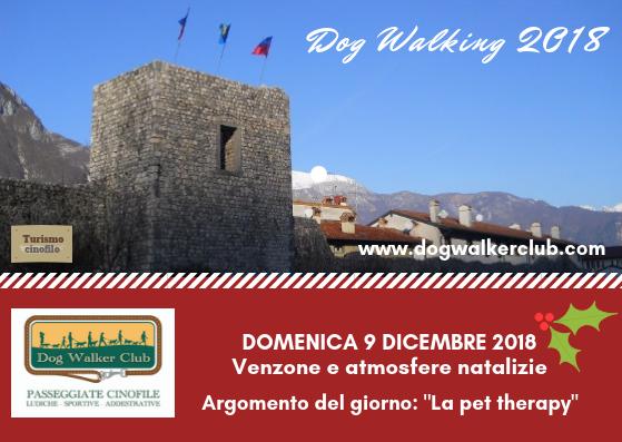 """Dog walking """"Venzone e atmosfere natalizie"""" - 9 dicembre"""
